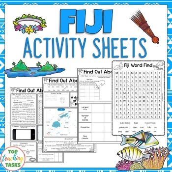 Fiji Activity Sheets Reading and Writing Activities
