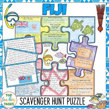 Fiji Scavenger Hunt Puzzle Activity   Pacific Islands