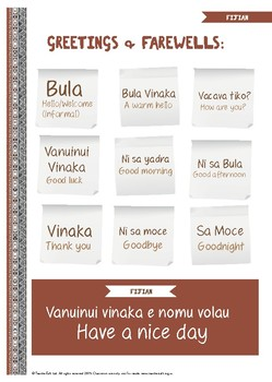 Fijian Language Activities
