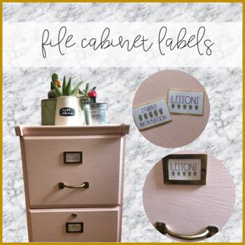 File Cabinet Cactus Labels