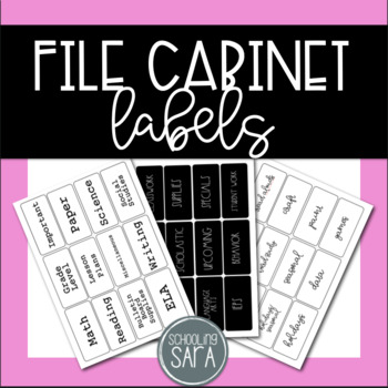 File Cabinet Labels