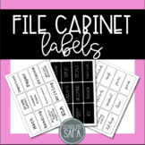 File Cabinet Labels