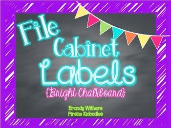 File Cabinet Labels {Bright Chalkboard}