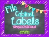 Bright Chalkboard File Cabinet Labels