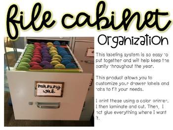File Cabinet Organization *Editable