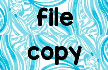 File/Copy/Grade Drawer Labels