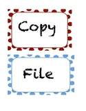 File, Copy, Grade Labels