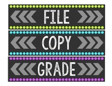 File, Copy, & Grade Labels for Sterilite 3-Drawer Organizer