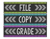 File, Copy, & Grade Labels for Sterilite 3-Drawer Organizer