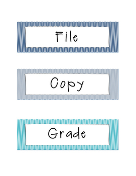 File/Copy/Grade for three-drawer organzier