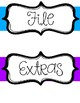 File, Copy, Office, etc- Classroom Labels to stay organized