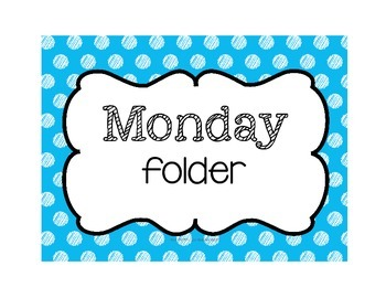 """""""File, Don't Pile"""" Daily Organized Manila Work Folder Covers (WITHOUT graphics)"""
