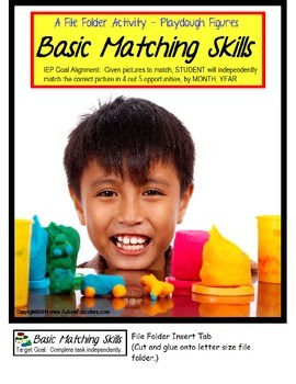File Folder Activities For SPECIAL EDUCATION Matching Visual Discrimination