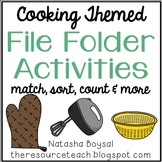 File Folder Activities (Cooking Themed)