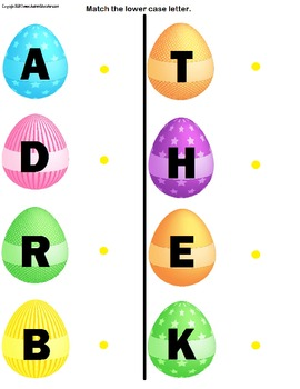 File Folder Activities Easter Egg Matching Pictures & Letters {SET OF 2}