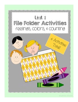 File Folder Activities: Feelings, Counting, & Colors Match