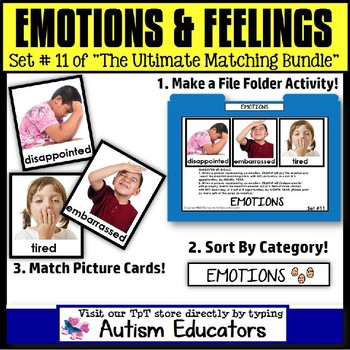 File Folder Activities For Special Education: EMOTIONS