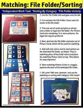 File Folder Activities For Special Education: MATCHING SHAPES for Sorting #3