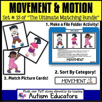 File Folder Activities For Special Education: MOVEMENTS with Pictures