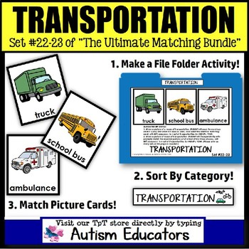 File Folder Activities For Special Education: TYPES OF TRANSPORTATION