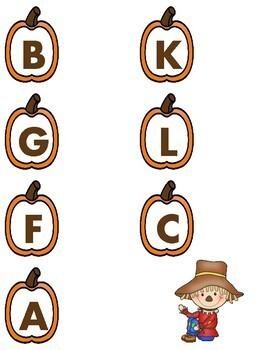 File Folder Activities - Kindergarten - Fall Theme