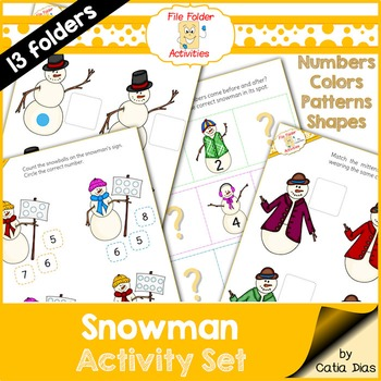File Folder Activities - Snowmen