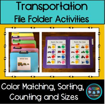 File Folder Activities - Transportation