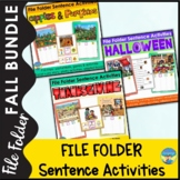 File Folder Games | Adapted Books | Sentence Building | Fall Activities Bundle