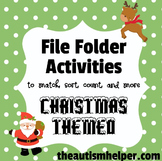 File Folder Activities for Christmas