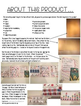 File Folder Activities for Preschool: Back to School