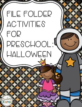 File Folder Activities for Preschool: Halloween
