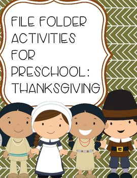 File Folder Activities for Preschool: Thanksgiving