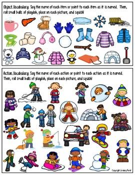 File Folder Activities for Preschool: Winter