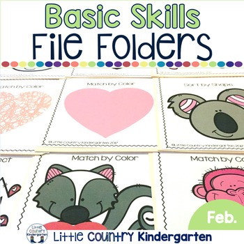 File Folder Activities for Special Education: February Basic Concepts