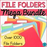 File Folder Activities for Special Education Yearlong MEGA BUNDLE