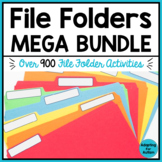 File Folder Activities Yearlong BUNDLE - Special Education
