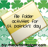 File Folder Activities for St. Patrick's Day