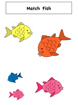 File Folder Activities to Match, Sort, Count, and More! {FISH themed}