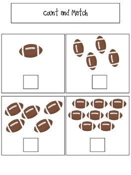 File Folder Activities to Match, Sort, Count, and More! {FOOTBALL themed}