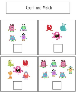 File Folder Activities to Match, Sort, Count, and More! {MONSTER themed}