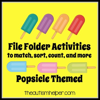 File Folder Activities to Match, Sort, Count, and More! {POPSICLE themed}