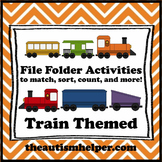 File Folder Activities to Match, Sort, Count, and More! {TRAIN themed}