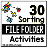 File Folder Activities to Sort by Color, Size, and Type