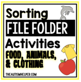 File Folder Activities to Sort by Habitat, Temperature, and Category