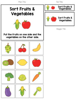 File Folder Activities to Sort by Habitat, Temperature, and Food Type