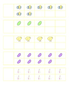 File Folder Activity 1-10 Ten Frames (Easter Theme)