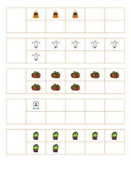 File Folder Activity 1-10 Ten Frames (Halloween Theme)