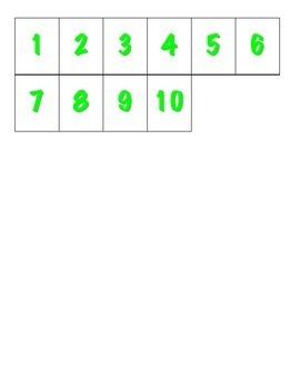 File Folder Activity 1-10 Ten Frames (Shamrocks)