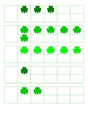 File Folder Activity 1-10 Ten Frames (Shamrocks)