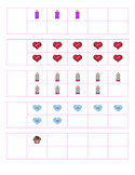 File Folder Activity 1-10 Ten Frames (Valentine's Theme)